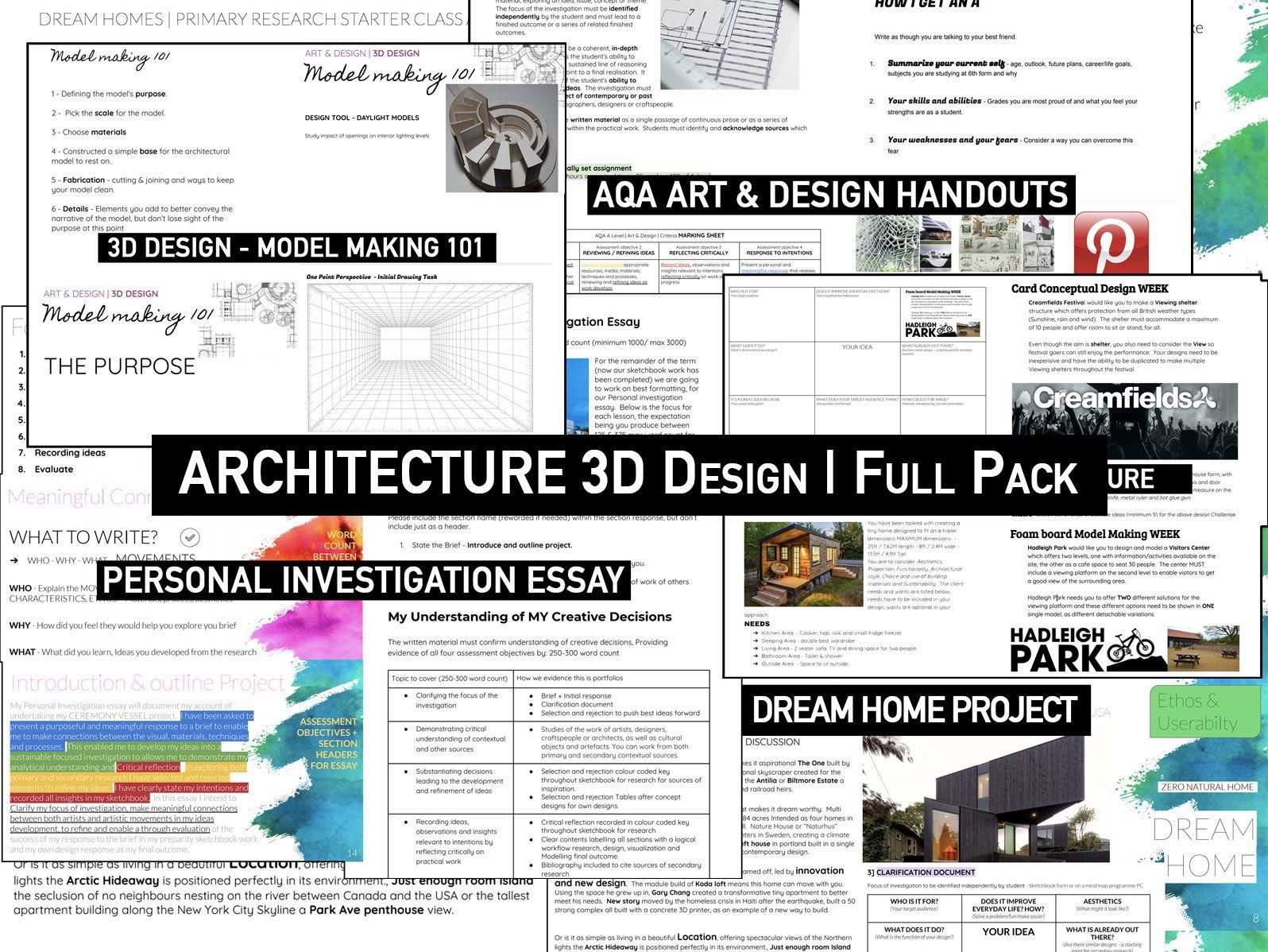 ARCHITECTURE 3D Design   Full TEACHING Pack