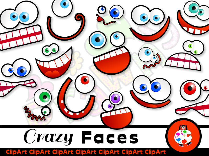 Silly Cartoon Face Clip Art