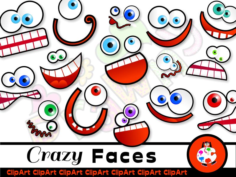 Silly Cartoon Face Clip Art Teaching Resources