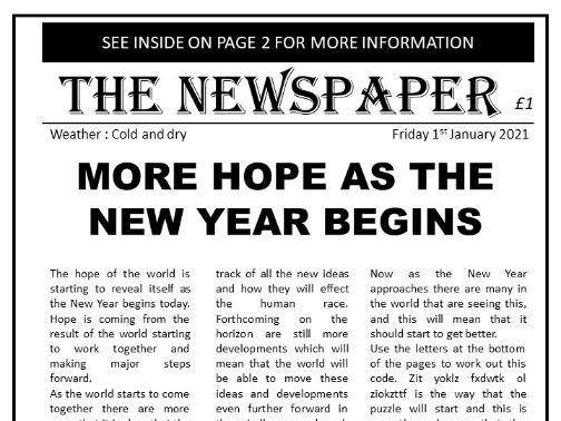 Escape Room - Newspaper