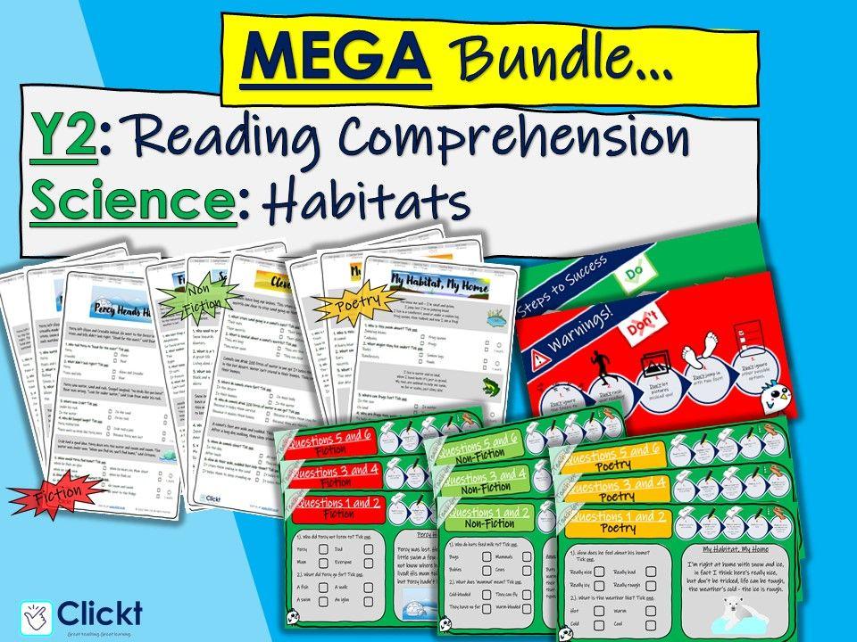 Year 2 Reading Comprehension MEGA-BUNDLE: Science: Habitats