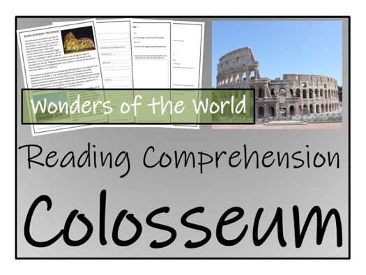 UKS2 History - The Colosseum Reading Comprehension Activity