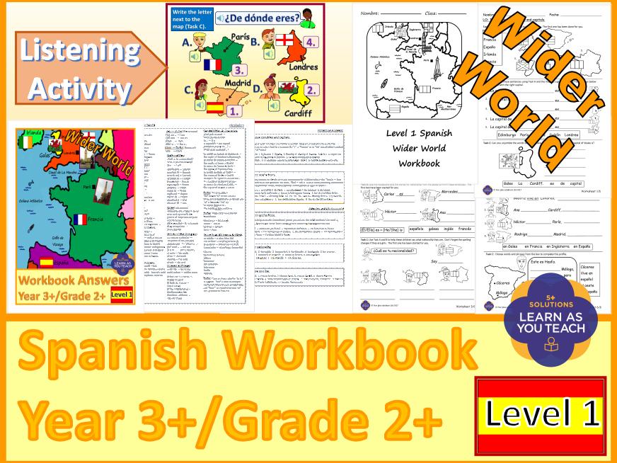 PRIMARY SPANISH WORKBOOK - WIDER WORLD