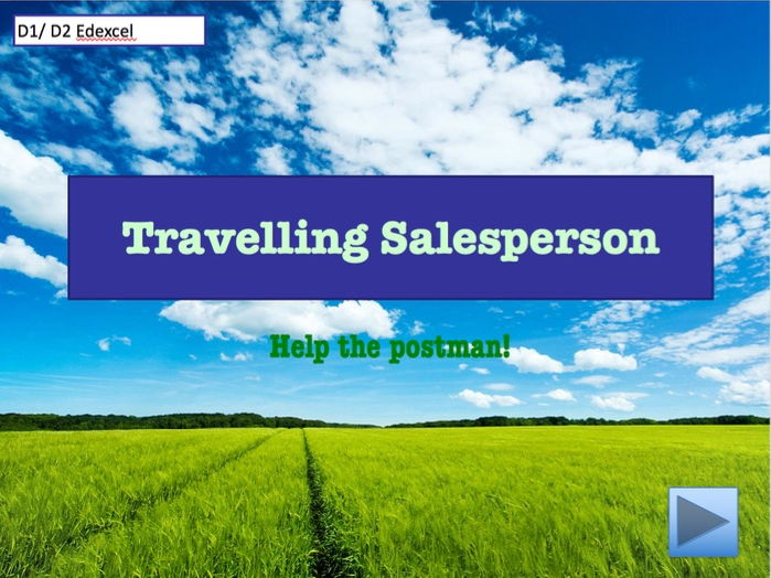 D1/ D2 - Travelling Salesperson game