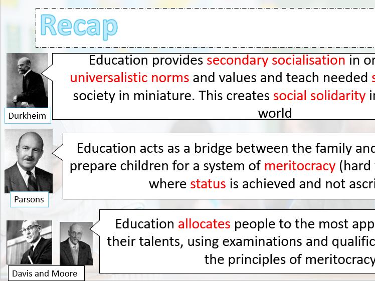 Functionalist Views on Education