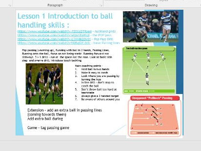 Rugby Unit of Work KS3 Videos, Activities, Objectives