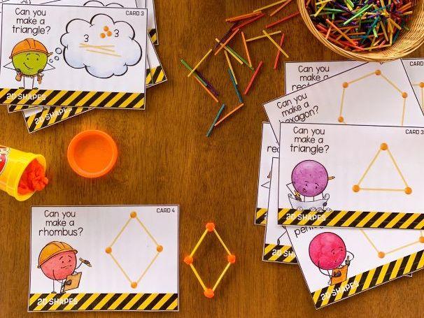 2D Shape STEM Challenge Cards