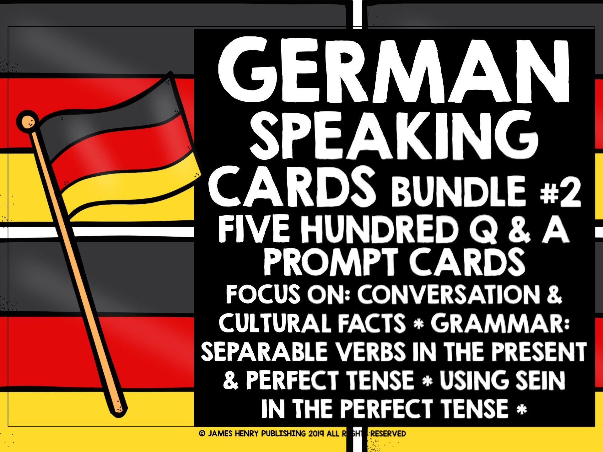 GERMAN SPEAKING PRACTICE BUNDLE #2