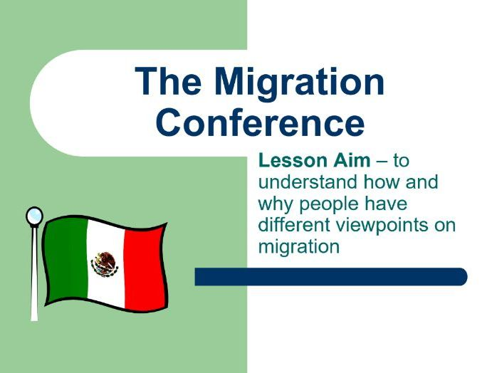 Mexico-USA Migration Conference Lesson