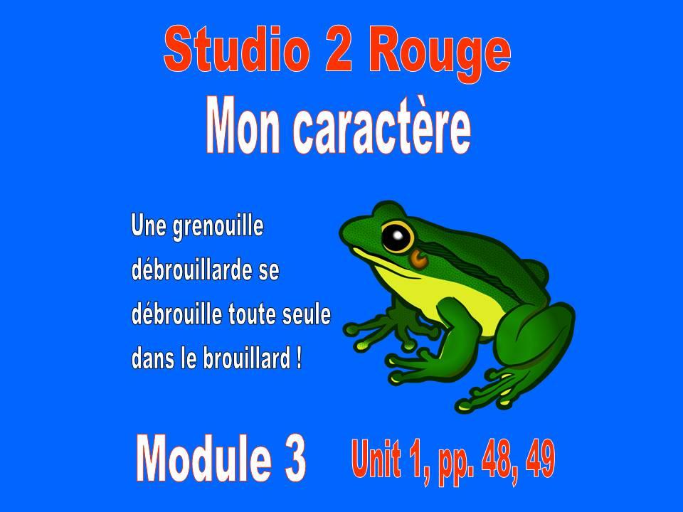 Mon caractère, pp. 48, 49 - Studio 2 Rouge; Module 3