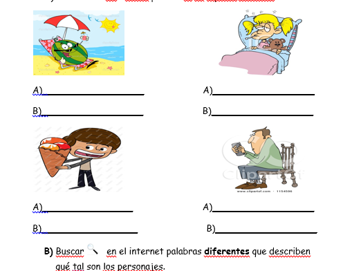 Three-way differentiated Spanish Worksheet: How are you?