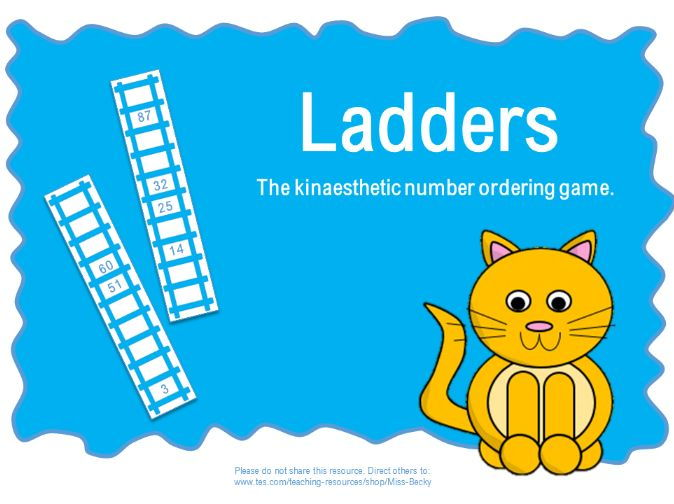 Ladders (Ordering numbers to 100 Game)