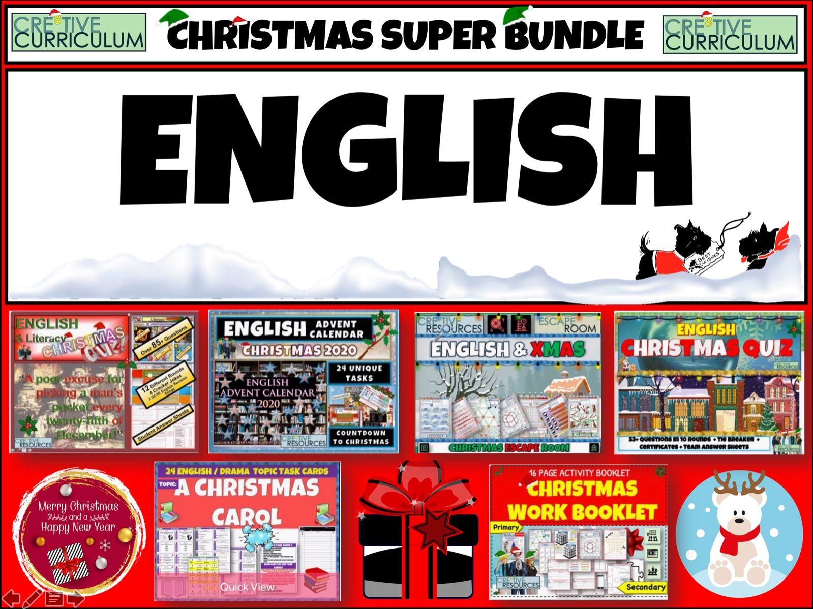 English Christmas 2020 Super Bundle