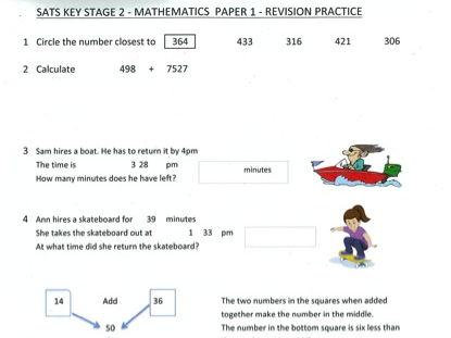 SATS KS2 - Maths Paper 1 - Revision Practice