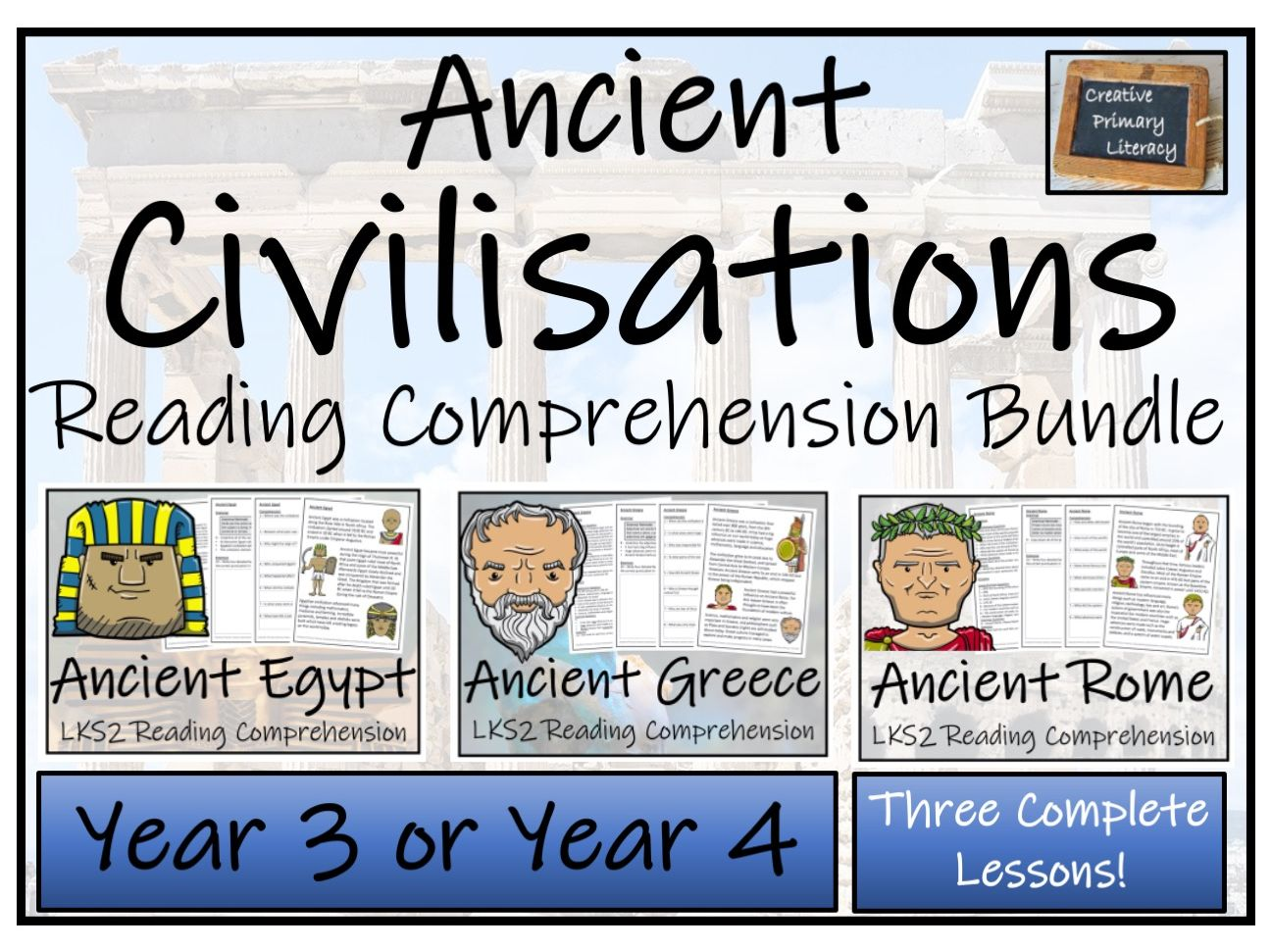 LKS2 Ancient Civilisations Reading Comprehension Bundle
