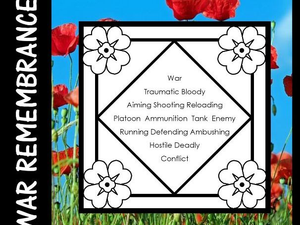 Anzac Day, Armistice Day, Remembrance Day  -  Diamante Poetry Writing