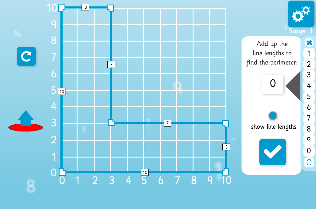 Compound Shape Area and Perimeter - Interactive Activity - KS2 Measurement
