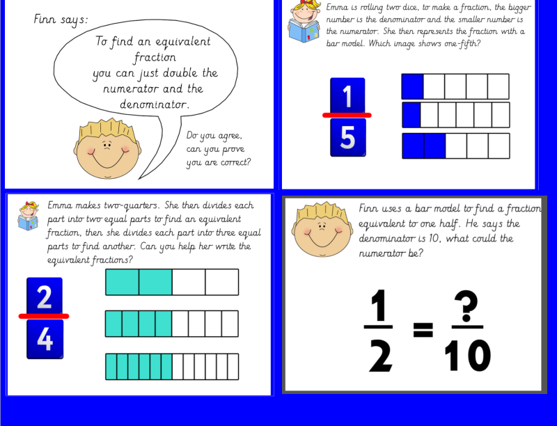 Year 3 Equivalent Fractions Using Bar Model Bundle