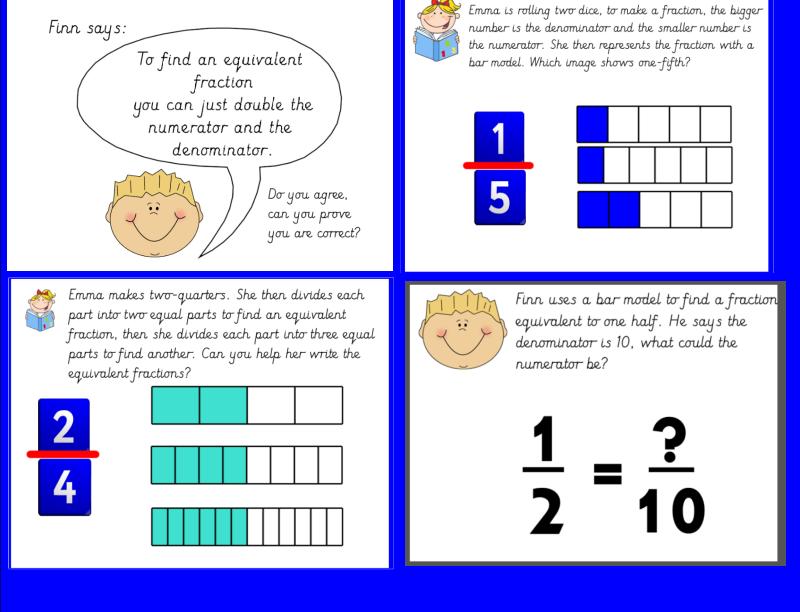 year 3 equivalent fractions using bar model bundle by missjg133