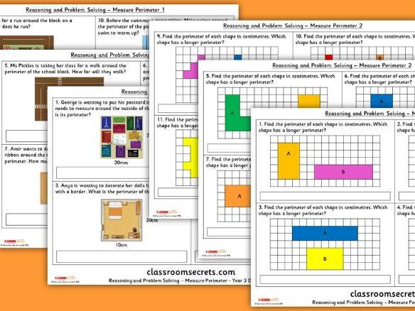 Year 3 Measure Perimeter Block 4 Reasoning and Problem Solving Pack