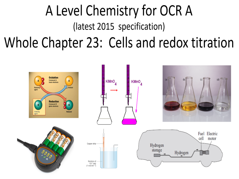 OCR A Level Chemistry Unit 23, Cells.