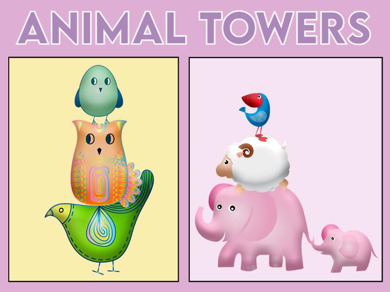 Animal Towers Game EYFS