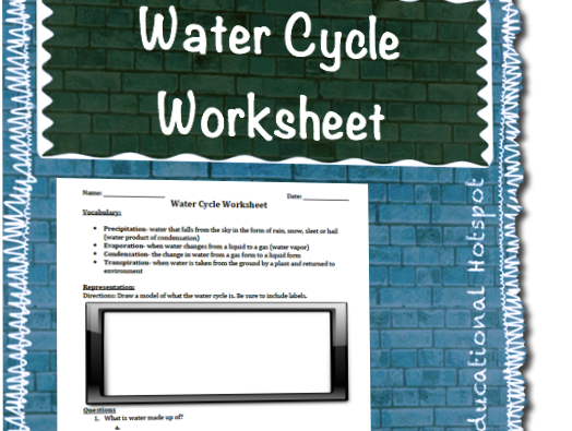 Water Cycle Worksheet Assessment