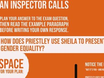 Home School: An Inspector Calls: Sheila Example Essay Question and Response