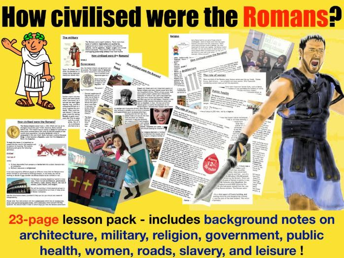 Roman Civilisation - 23 page lesson pack
