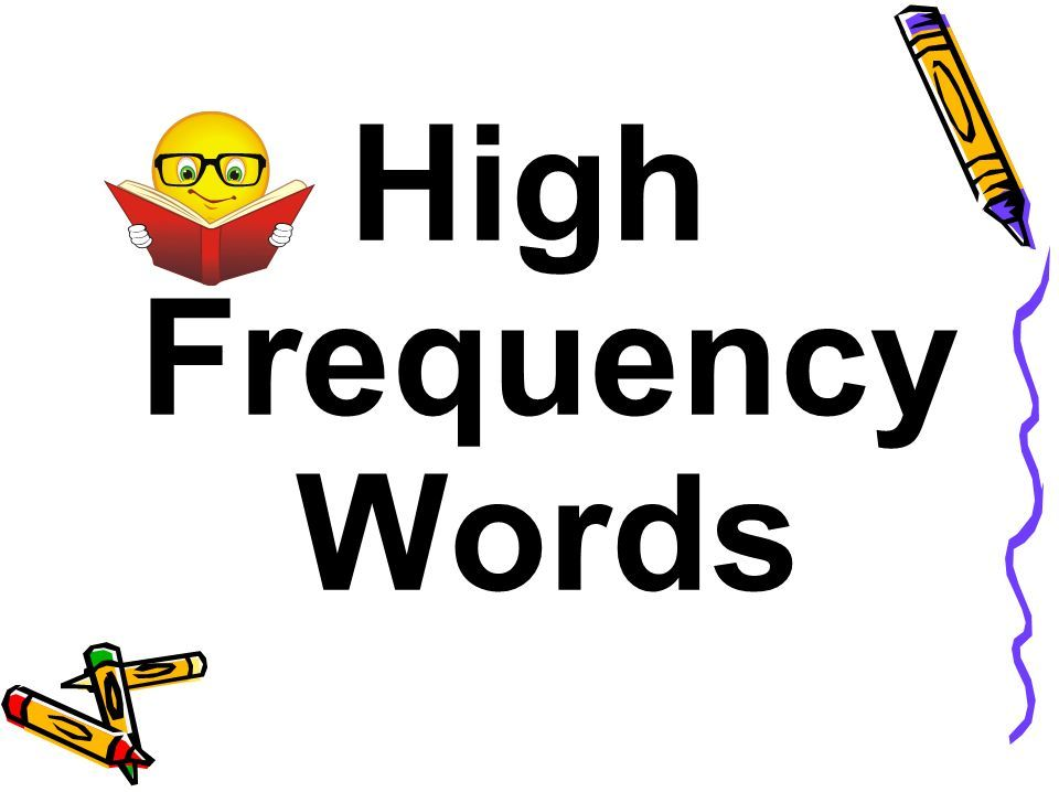 High Frequency Word Lists KS1
