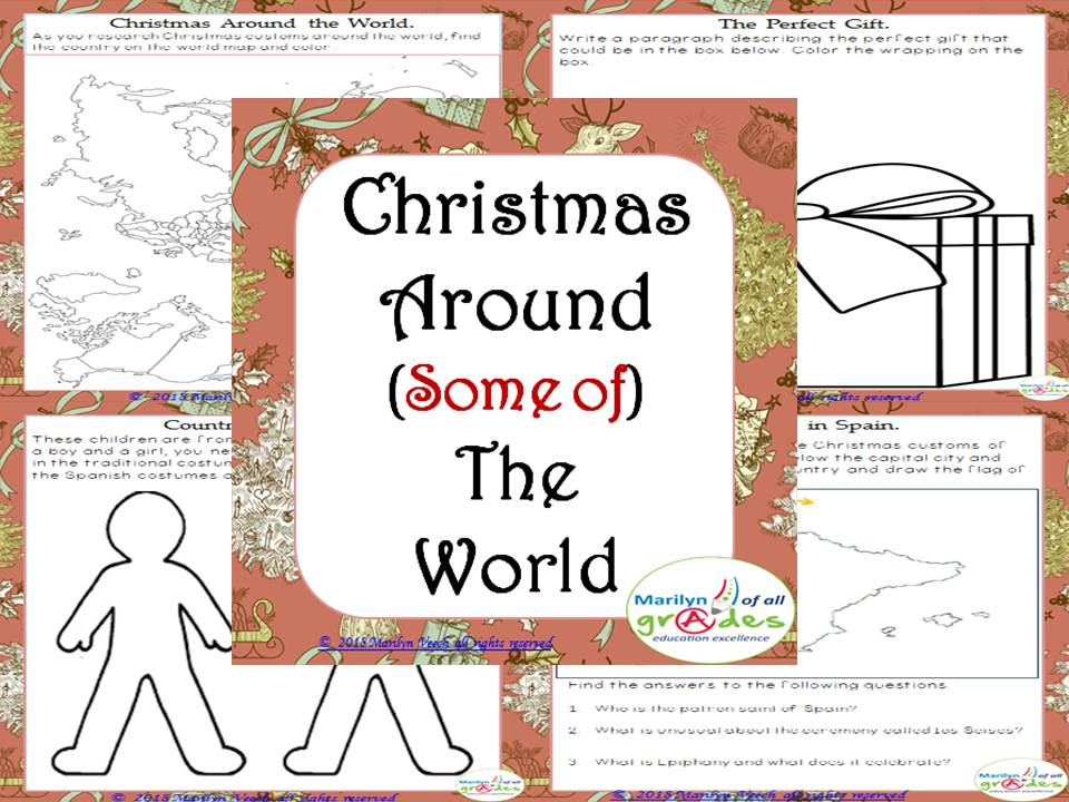 Christmas Around The World Worksheets.Christmas Around The World Worksheets Activities Research