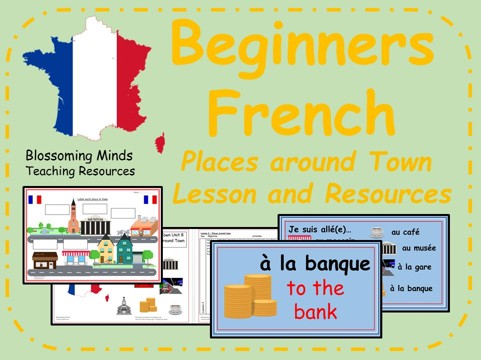French lesson and resources - KS2 - Places around town