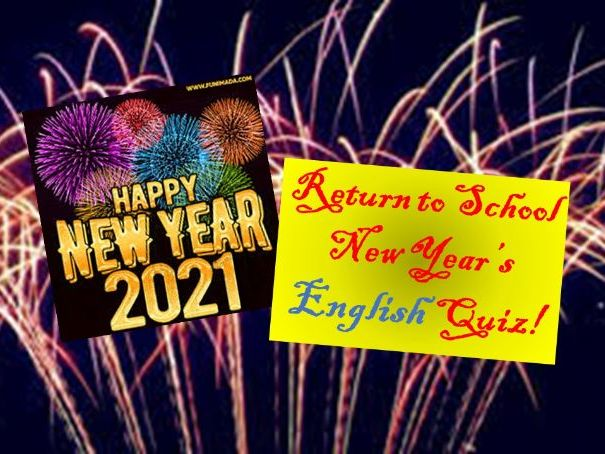 New Year 2021 English Quiz!