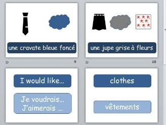 GCSE French shopping role play