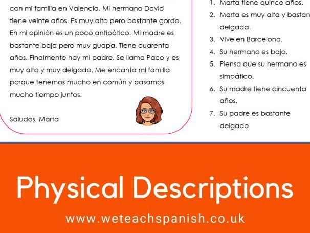 Physical Descriptions Pack