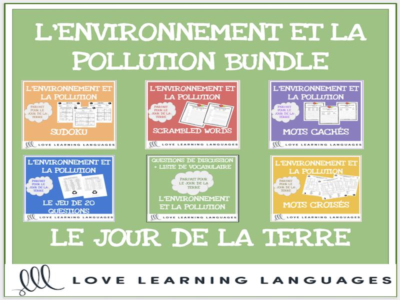 L'environnement et la pollution - Bundle - Le Jour de la Terre - Earth Day