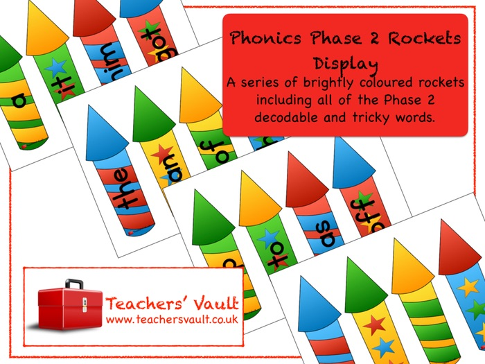 Phonics Phase 2 Rockets Display