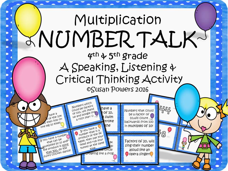 Number Talk Multiplication Drama Circle Activity