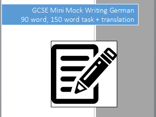 Mini-mock writing tasks for New German GCSE