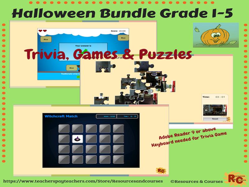 Halloween Bundle Year 2-6