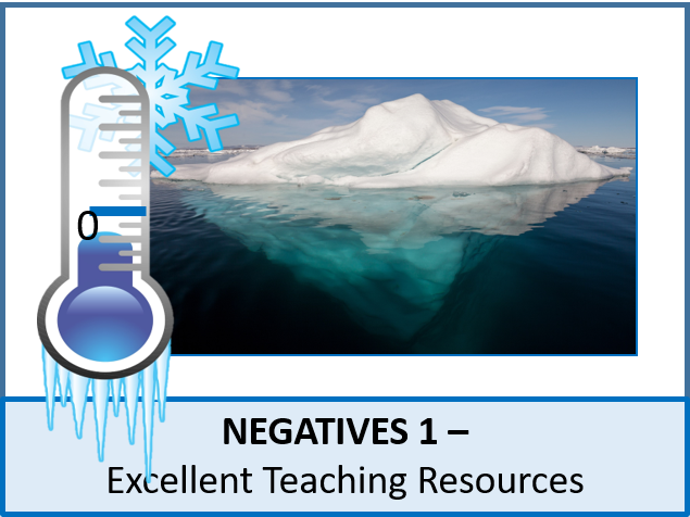 Number: Negatives 1 - Introduction and 4 Operations (+ LOTS of resources)