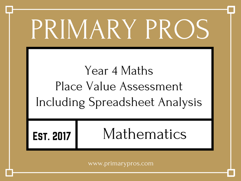 Year 4 Place Value Assessment (Including Spreadsheet Analysis)