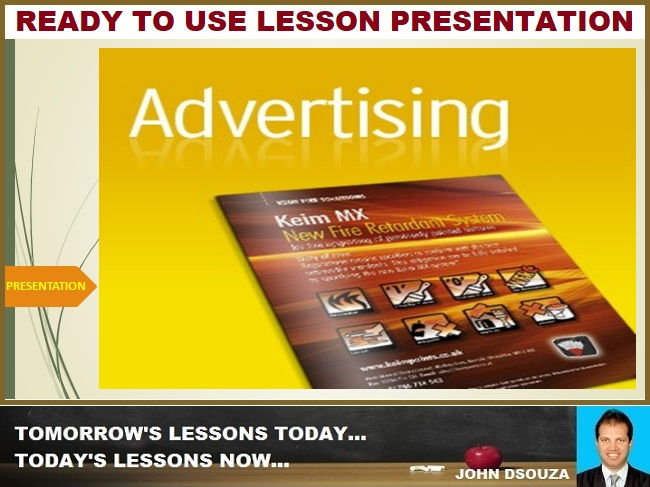 CREATING AN ADVERTISEMENT: LESSON PRESENTATION