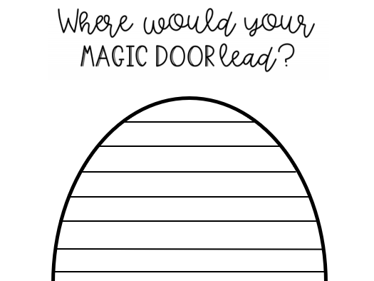 Journey Worksheet by Aaron Becker - What's behind your door?