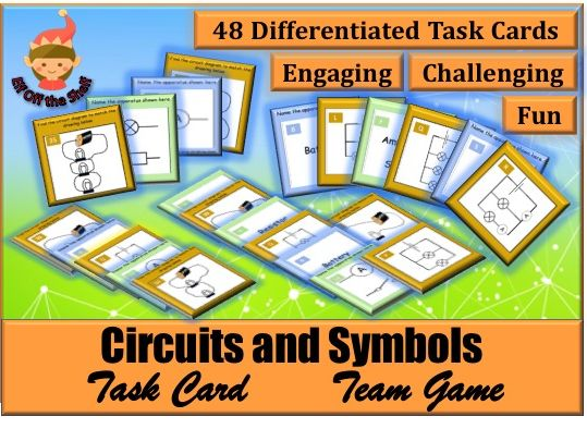 Electricity-Circuits and Symbols Task Card Team Game KS2