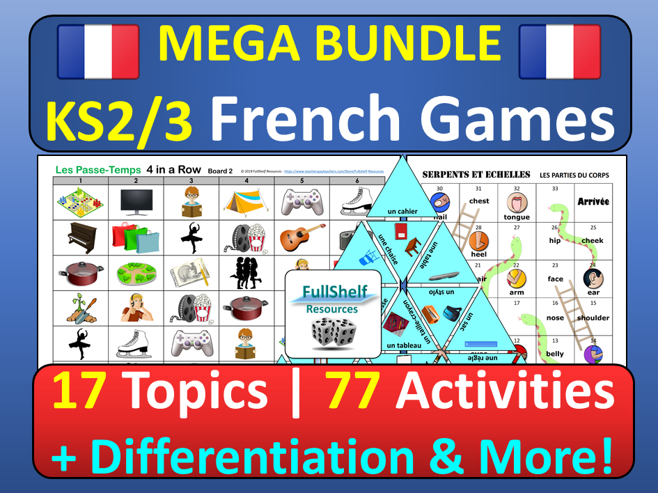 French Games KS2 KS3