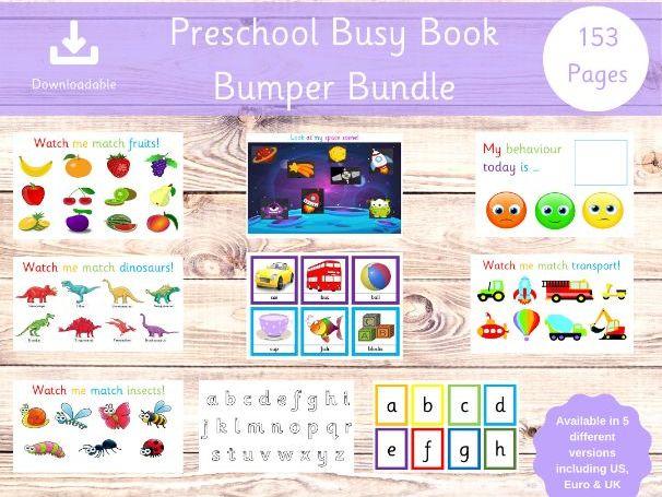 Preschool Bundle - 153 Pages
