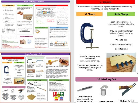 Design and Technology GCSE KS4 Tools and Processes revision