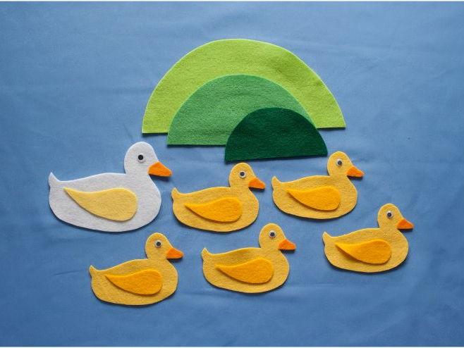 Five Little Ducks Felt Board Pattern PDF
