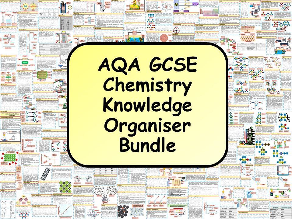 KS4 AQA GCSE Chemistry (Science) Revision Knowledge Organiser Bundle